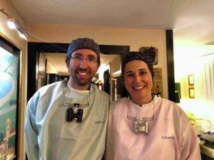 Equipo de la Clínica Dental Barrachina con EPIs